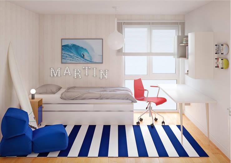 Habitaciones para niños de estilo escandinavo por 3Deko