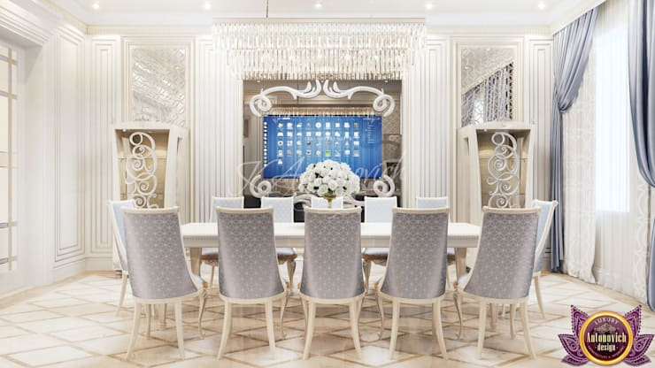 Dining room by Luxury Antonovich Design