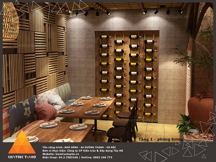 Tầng 1 - Phòng trong view 1:  Phòng ăn by KIẾN TRÚC TÂY HỒ