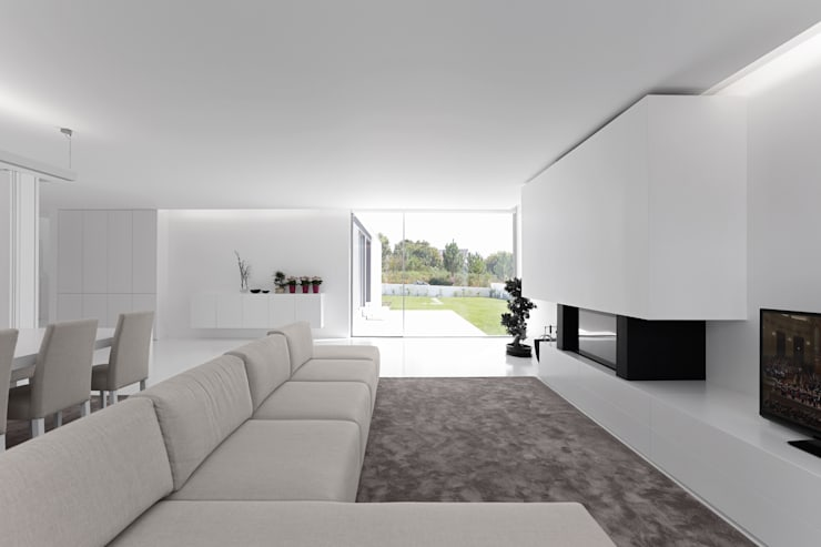 minimalistic Living room by PSB arquitectos