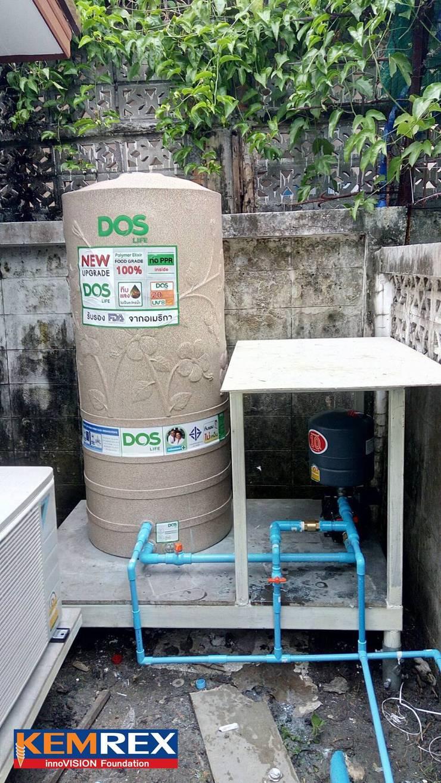 งานฐานราก วางปั๊มน้ำ และแท้งค์น้ำ:   by บริษัทเข็มเหล็ก จำกัด