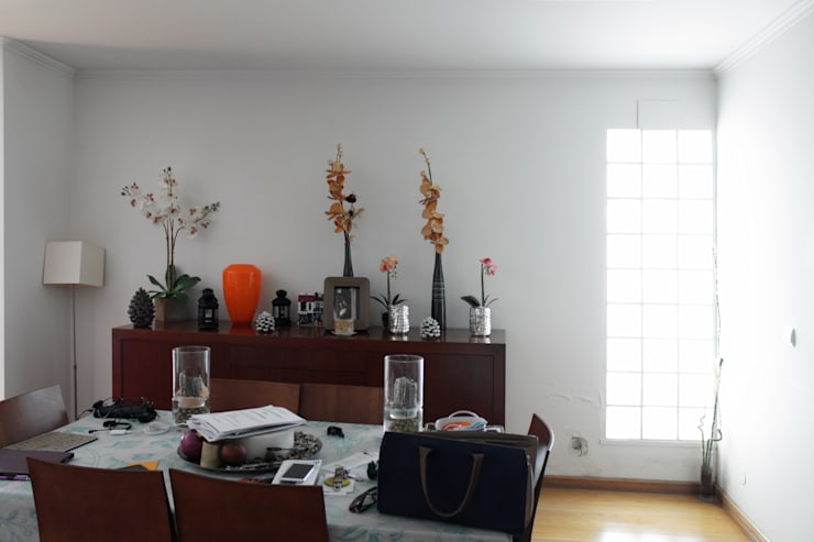 Antes - Sala de estar:   por Estúdio AMATAM