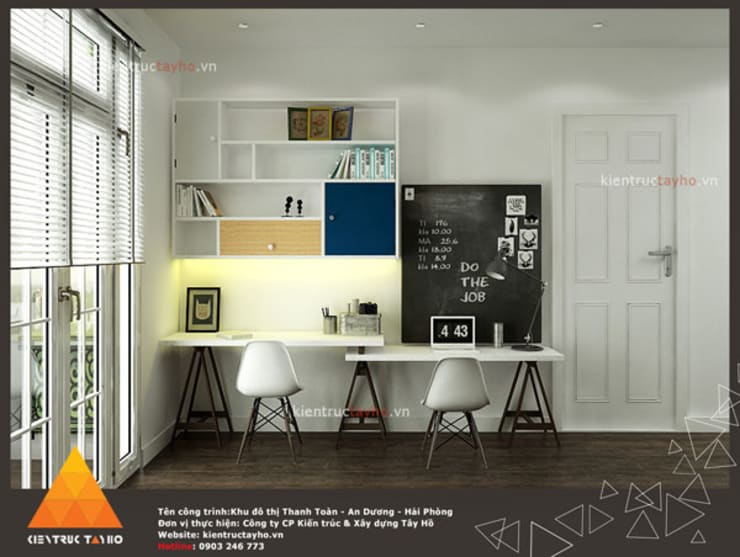 Estudios y oficinas de estilo moderno por KIẾN TRÚC TÂY HỒ