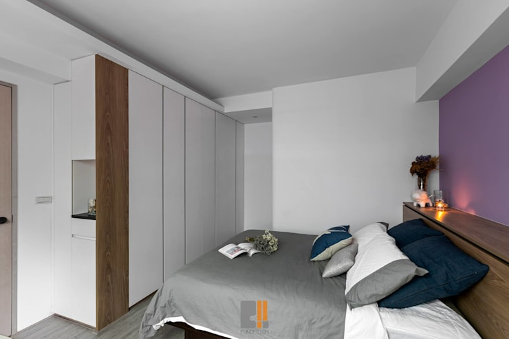 Chambre de style  par 築川設計, Moderne