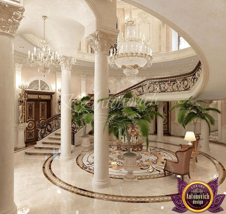   Villa Design in Colombo from Katrina Antonovich:  Corridor & hallway by Luxury Antonovich Design, Classic