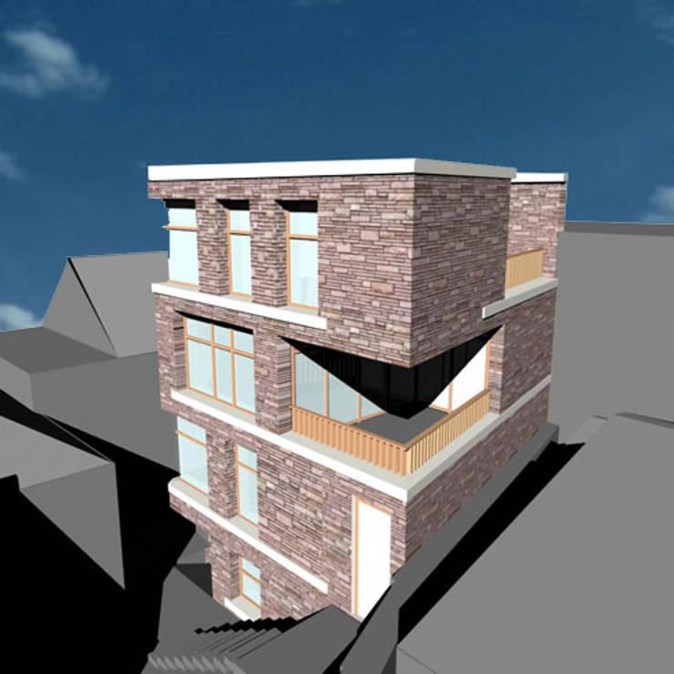 Woning nieuwbouw:  Huizen door YA Architecten, Modern