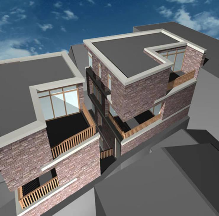 woning nieuwbouw:  Garage/schuur door YA Architecten, Modern