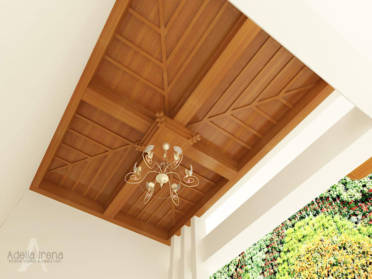 Wood Ceiling Decorative:  Rumah teras by AIRE INTERIOR