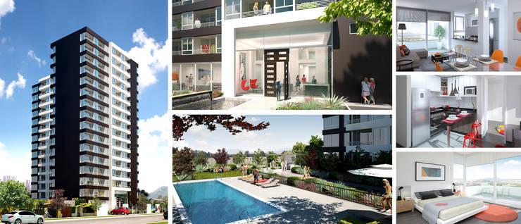 Open: Viviendas colectivas de estilo  por Rau Arquitectos