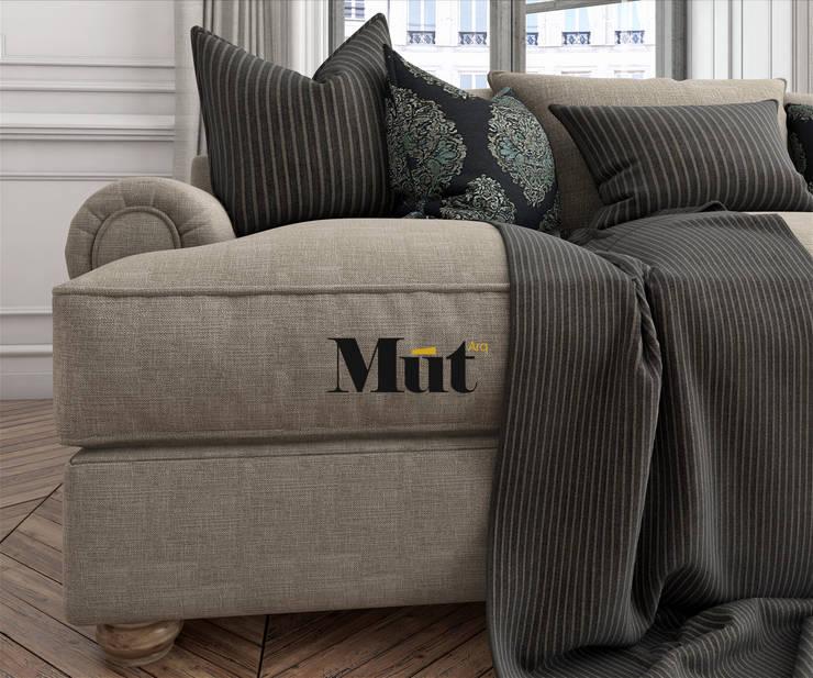 Renders Fotorealistas para Catalogo de muebles: Hogar de estilo  por MUT arquitectos,