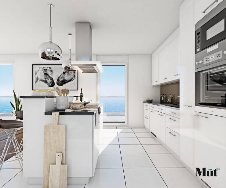 Diseño de Mueble de Cocina: Muebles de cocinas de estilo  por MUT arquitectos