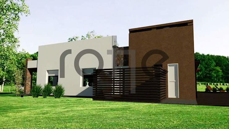 Single family home by Rohe Arquitectura+Diseño, Modern Bricks