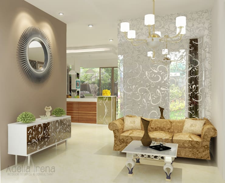 Living Room:  Ruang Keluarga by AIRE INTERIOR