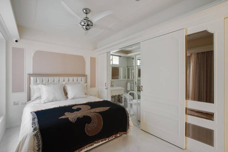 法式浪漫古典:  臥室 by 哲嘉室內規劃設計有限公司