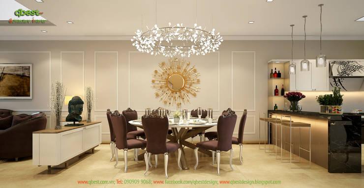 Phòng ăn:   by Công ty TNHH Thiết Kế và Ứng Dụng QBEST
