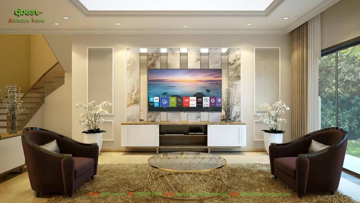 Phòng khách:   by Công ty TNHH Thiết Kế và Ứng Dụng QBEST