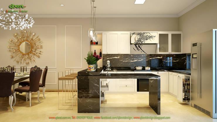 Không gian bếp:   by Công ty TNHH Thiết Kế và Ứng Dụng QBEST