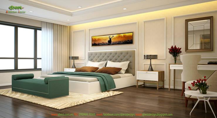 Phòng ngủ master:   by Công ty TNHH Thiết Kế và Ứng Dụng QBEST