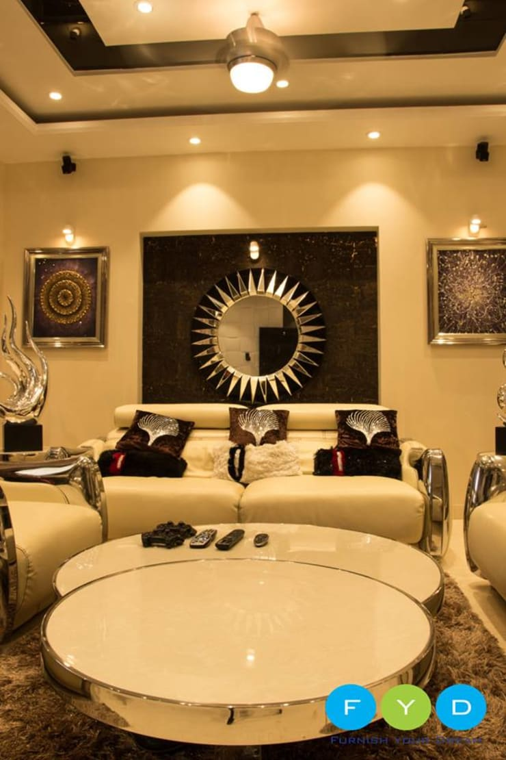 Your Home Should Tell The Story Of Who You Are, And Be A Collection Of What You Love..:  Living room by FYD Interiors Pvt. Ltd,Rustic