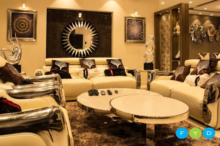 Your Home Should Tell The Story Of Who You Are, And Be A Collection Of What You Love..:  Living room by FYD Interiors Pvt. Ltd