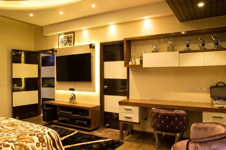 Your Home Should Tell The Story Of Who You Are, And Be A Collection Of What You Love..:  Bedroom by FYD Interiors Pvt. Ltd