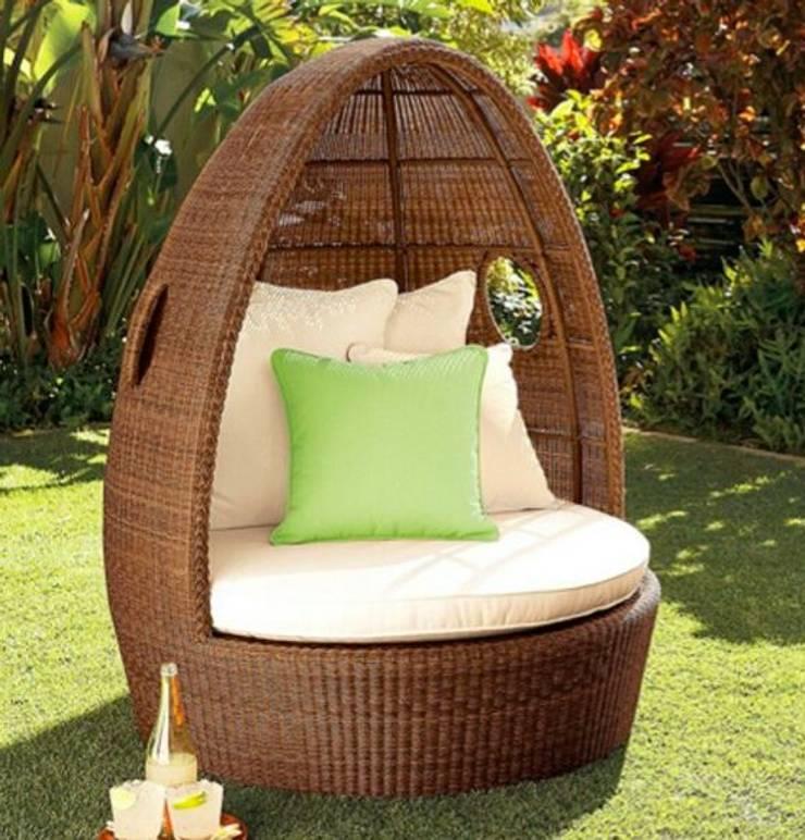 Sun Bed - Outdoor Furniture : modern  by Studio Machaan : Outdoor and Garden Furniture in Delhi,Modern