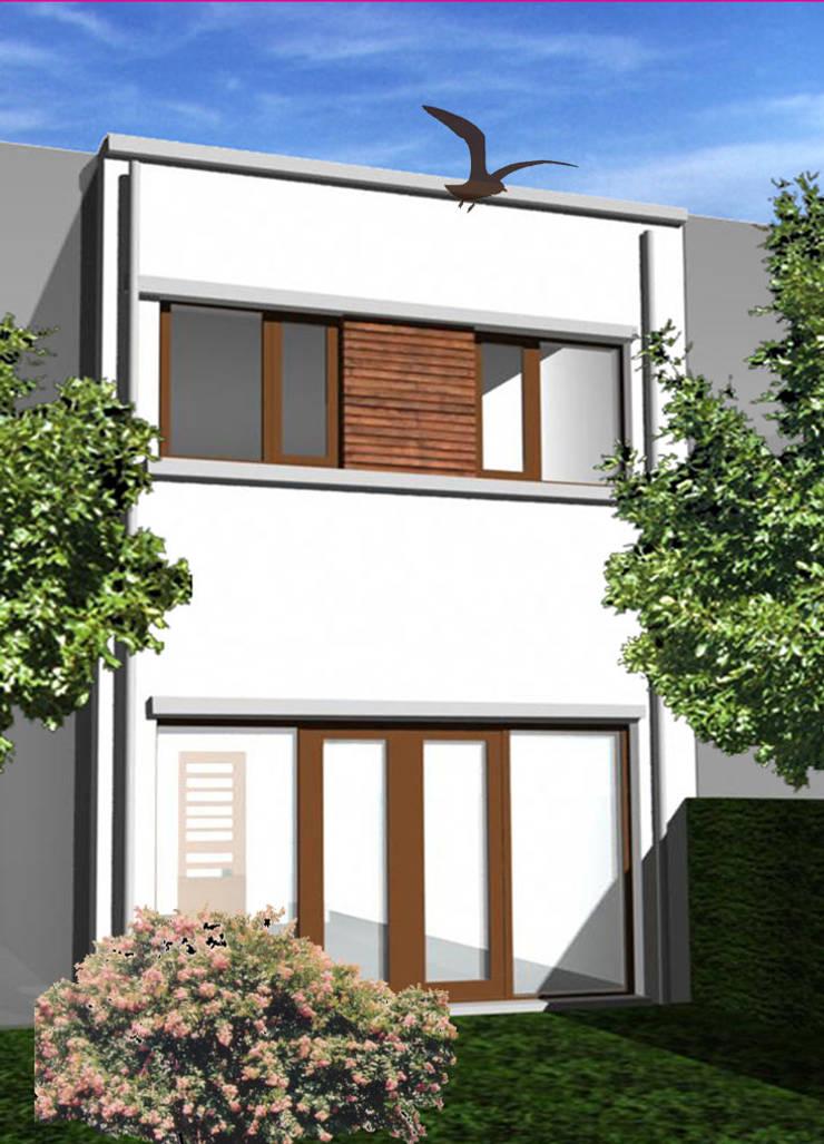 Woning vrije kavel achtergevel:  Huizen door YA Architecten