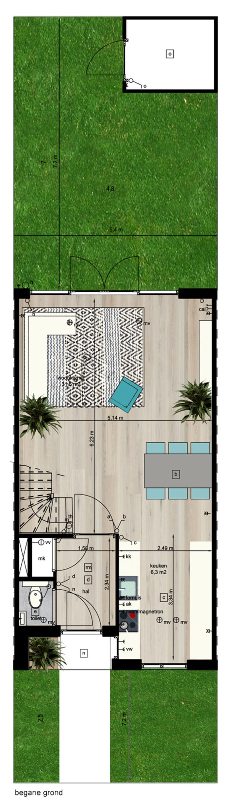 Woning vrije kavel begane grond:  Huizen door YA Architecten