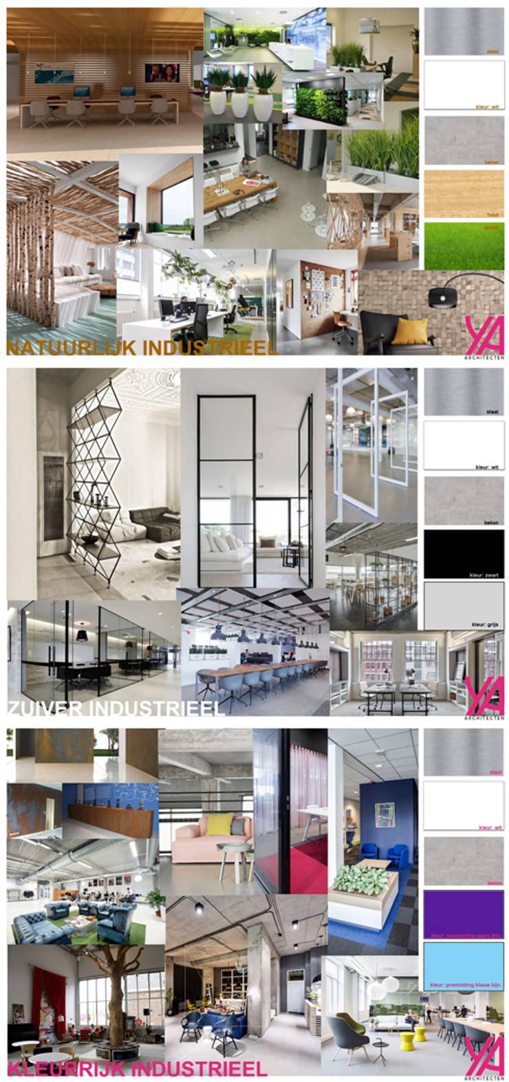 Concept interieur kantoor:  Kantoorgebouwen door YA Architecten