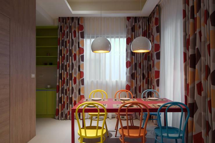 美式普普風:  餐廳 by 哲嘉室內規劃設計有限公司