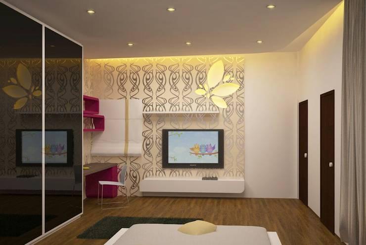 Apartment Interiors:  Bedroom by M/s GENESIS