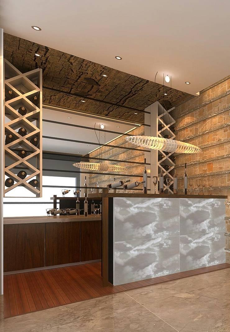 Apartment Interiors: asian Wine cellar by M/s GENESIS