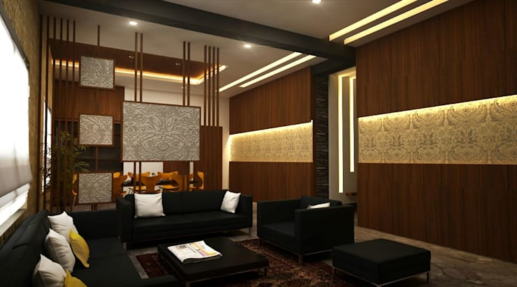 Apartment Interiors: asian Dining room by M/s GENESIS