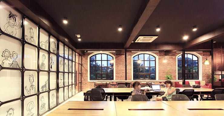 TOONG Co-working Space:  Bathroom by Studio8 Architecture & Urban Design