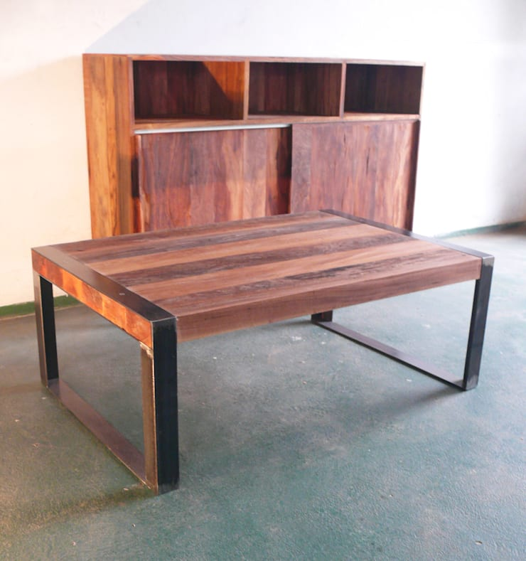 Modular y mesa auxiliar:  de estilo  por Ducoinstudio Diseño de Mobiliario,Minimalista Madera maciza Multicolor