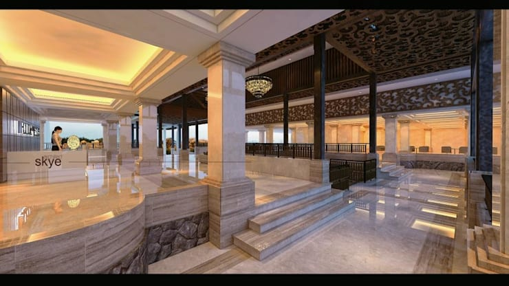 Tropical style hotels by Skye Architect Tropical Granite