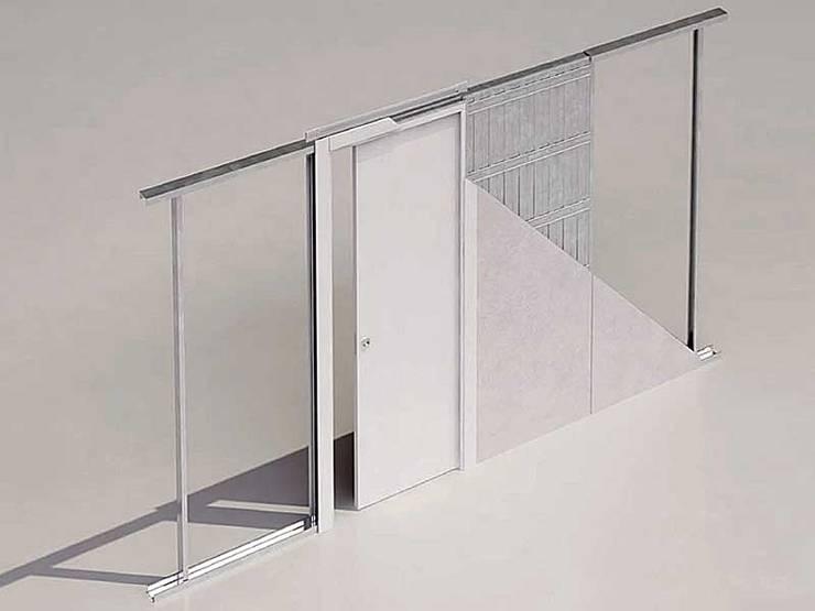 Kant-en-klaar inbouwframe Evolution voor gipsplaten wand:  Deuren door BestFix-Schuifdeursystemen, Modern Aluminium / Zink