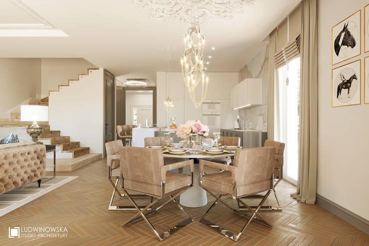 COGNAC: styl , w kategorii Jadalnia zaprojektowany przez Ludwinowska Studio Architektury