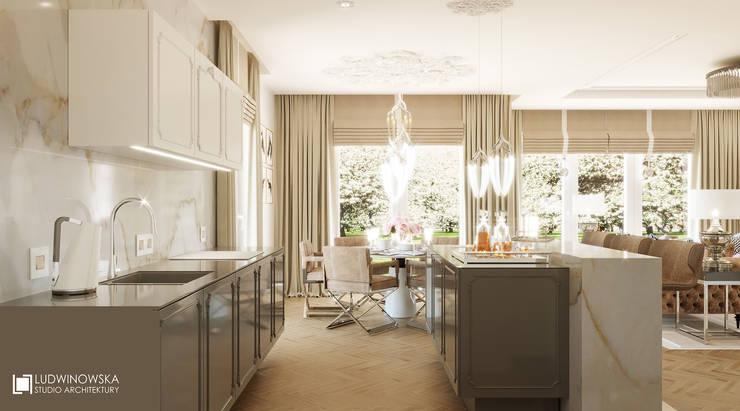 COGNAC: styl , w kategorii Kuchnia zaprojektowany przez Ludwinowska Studio Architektury