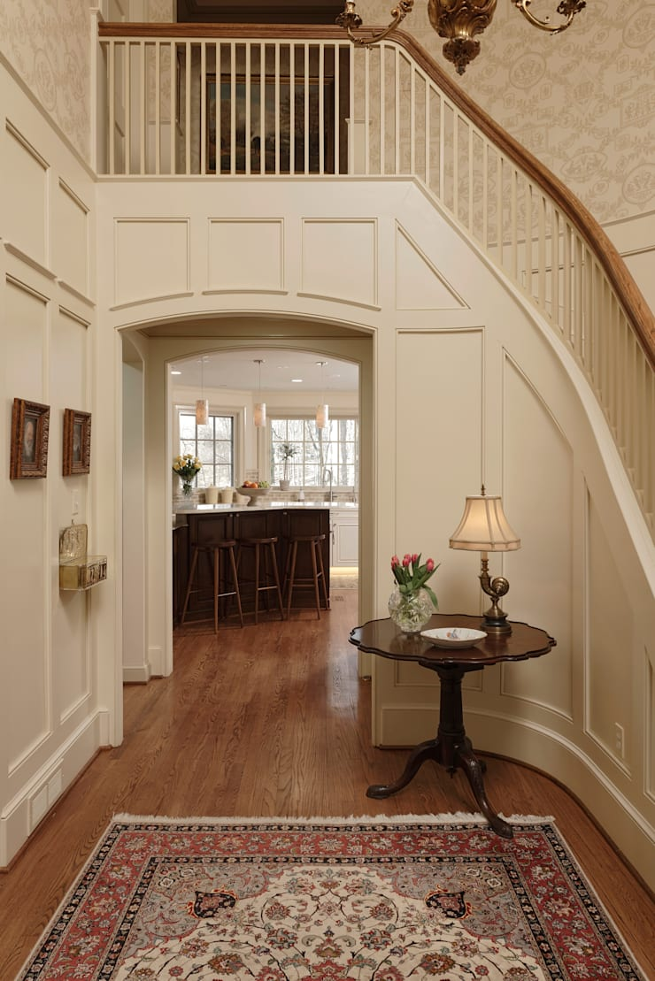 """""""Cook's Kitchen"""" Renovation in Potomac, Maryland Classic style corridor, hallway and stairs by BOWA - Design Build Experts Classic"""