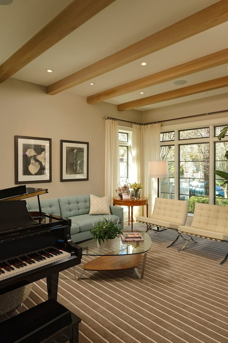 Fire Restoration in Chevy Chase Creates Opportunity for Whole House Renovation:  Living room by BOWA - Design Build Experts