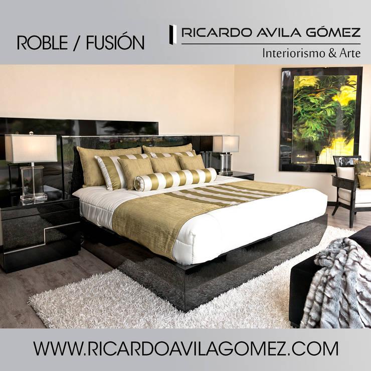 NUEVA COLECCION ROBLE/FUSIÓN 2017: Dormitorios de estilo  por Ricardo Avila Gómez Interiorismo y Arte