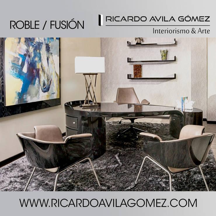 NUEVA COLECCION ROBLE/FUSIÓN 2017: Estudio de estilo  por Ricardo Avila Gómez Interiorismo y Arte