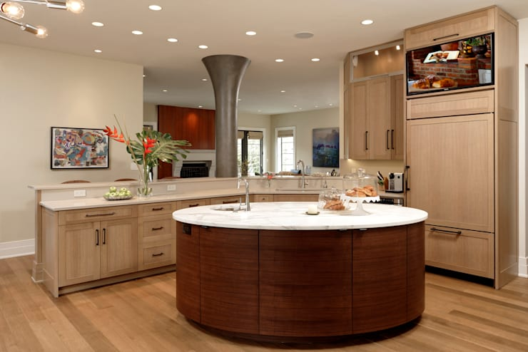 Fire Restoration in Chevy Chase Creates Opportunity for Whole House Renovation:  Kitchen by BOWA - Design Build Experts