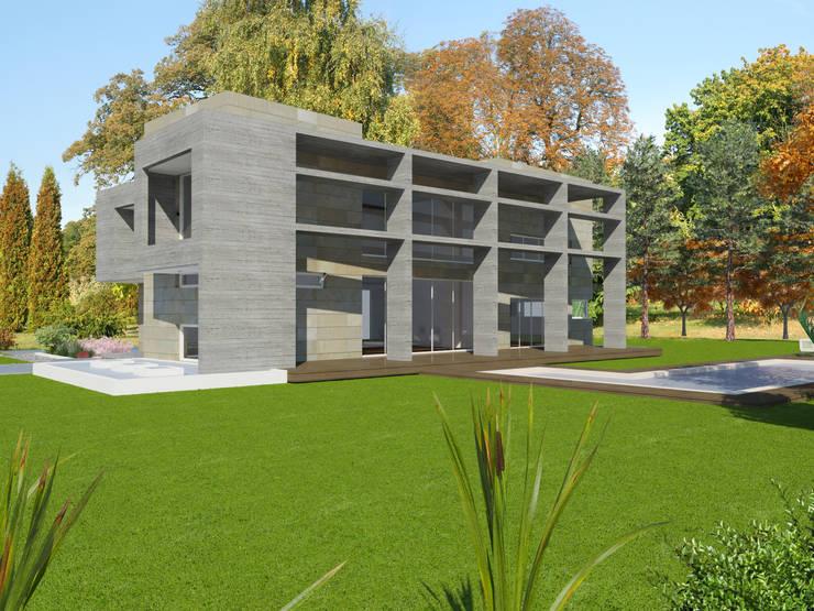 casa en el Tigre: Casas unifamiliares de estilo  por ARQUITECTURA Y EMPRENDIMIENTOS,