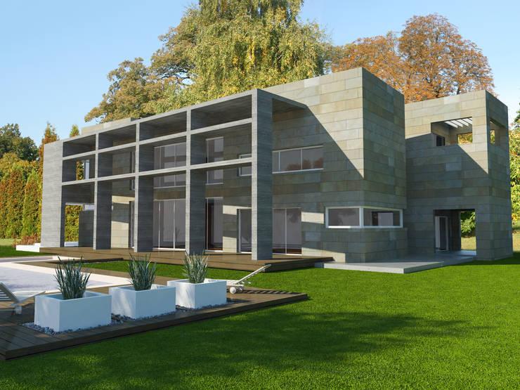 casa en el Tigre: Casas unifamiliares de estilo  por ARQUITECTURA Y EMPRENDIMIENTOS