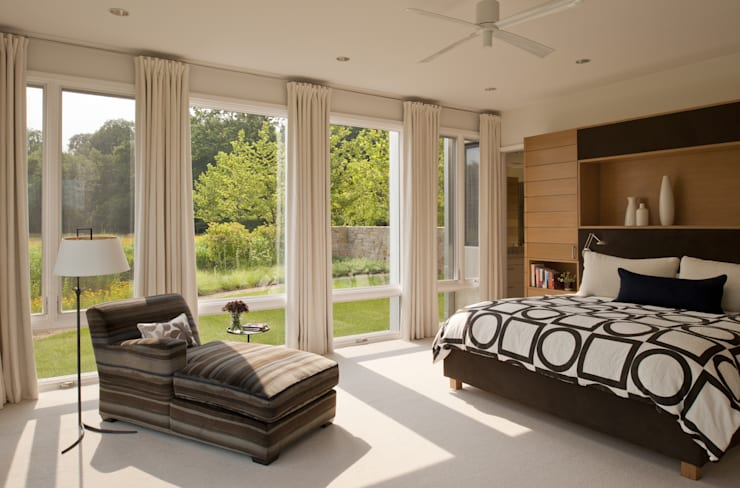 Green Building Features Abound in Bluemont, Virginia Custom Home: modern Bedroom by BOWA - Design Build Experts
