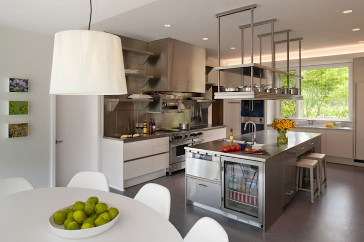Green Building Features Abound in Bluemont, Virginia Custom Home: modern Kitchen by BOWA - Design Build Experts