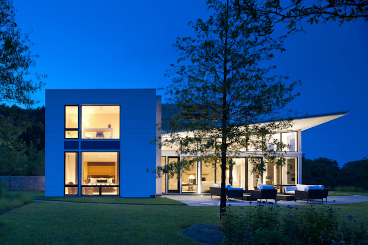 Green Building Features Abound in Bluemont, Virginia Custom Home: modern Houses by BOWA - Design Build Experts