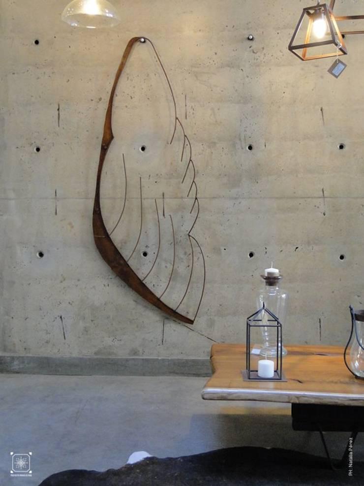 Escultura Ala en hierro a partir de scrap:  de estilo industrial por Proyecto Menos es Más,Industrial